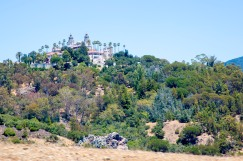 View of Hearst Castle from the bus ride there