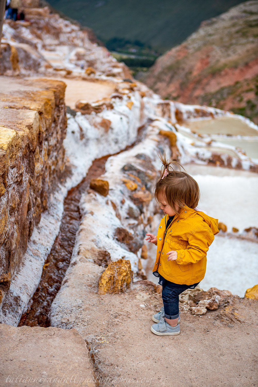 Maras Salt Mines with child-15
